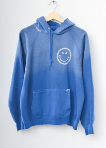 Happy Face Hoodie - Blue