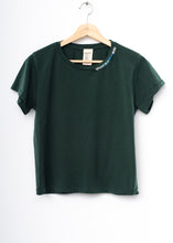 Ombre Stitched Planet Tee-Hunter Green