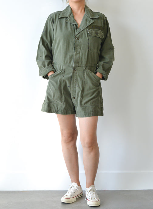 MILITARY SHORTS JUMPSUIT