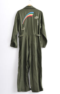 VINTAGE MILITARY JUMPSUIT - BUTTON HEM DETAIL