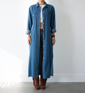 Long Denim Duster