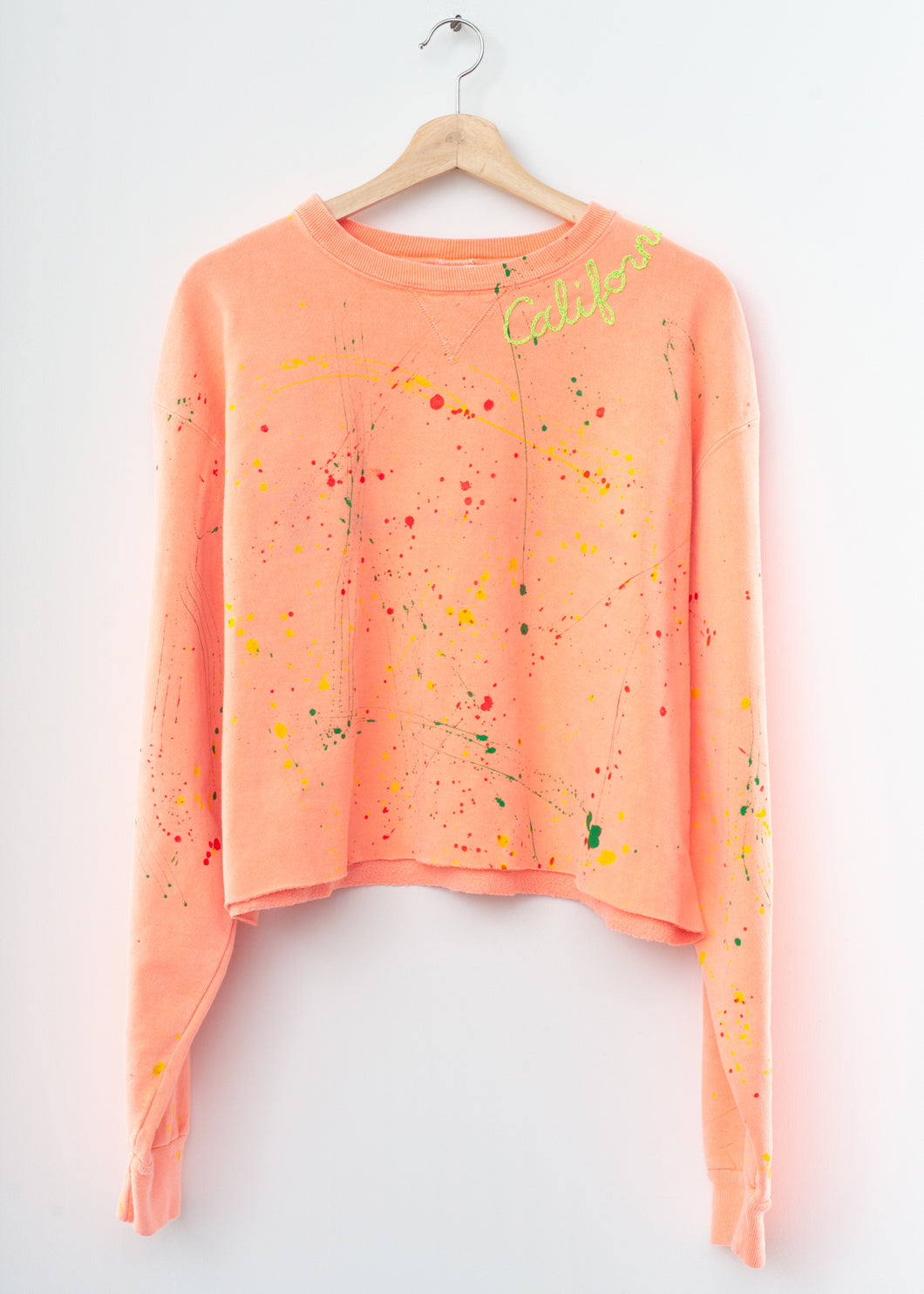 Neon Coral Splash Sweatshirt