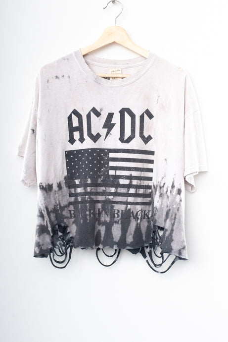 AC⚡DC Back In Black Crop Tee