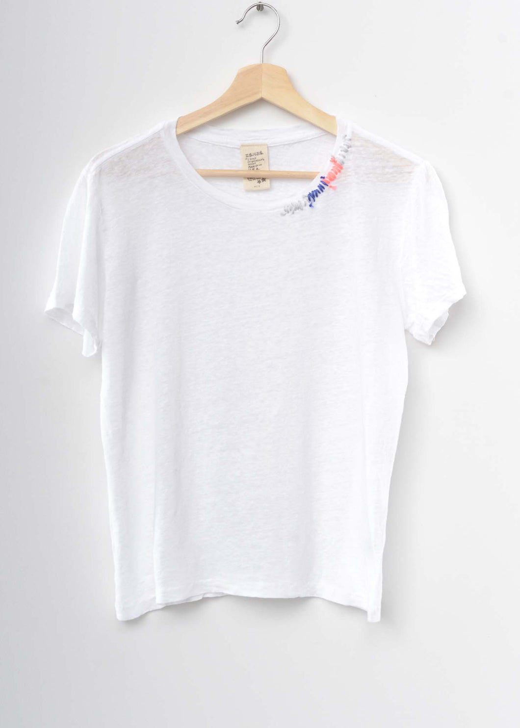 Ombre Stitched Planet Tee-White