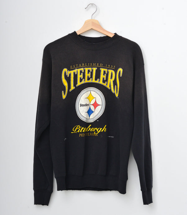 Pittsburgh Steelers Sweatshirt - Washed Black