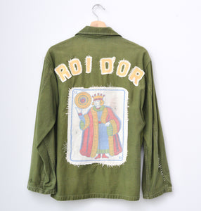KING OF GOLD BACK PATCH U.S. ARMY UTILITY SHIRT