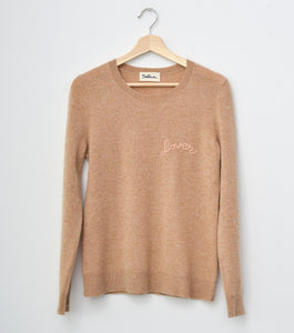 Lover Cashmere V Neck - Heather Carmel