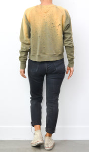 JAMYLA SPECIAL SHOTGUN DISTRESS PULLOVER SWEATSHIRT IN GOLDEN LIGHT