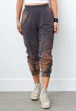 PALOMA SPECIAL SPLASH & SHOTGUN DISTRESS SWEAT PANTS IN RUST CHARCOAL
