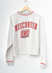 Wisconsin Badgers Crop Sweatshirt