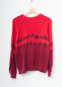 "Festival Tie Dyed ""California"" Sweatshirt- Red"