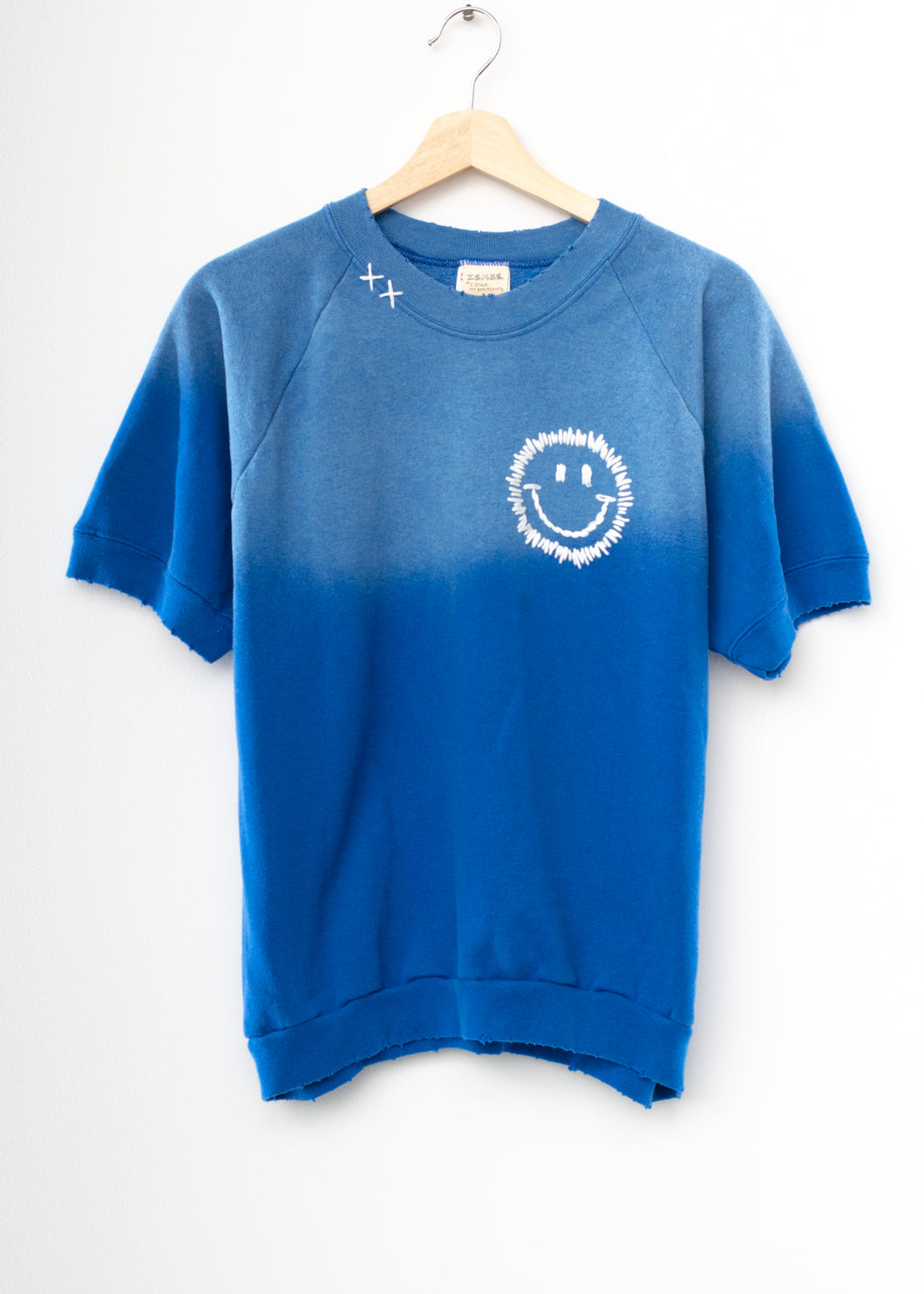 Happy Face Shorty Sweatshirt - True Blue (Size L)