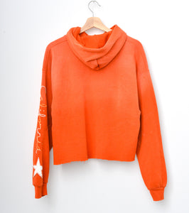 Star Patch California Cropped Hoodie -Tangerine Dreams