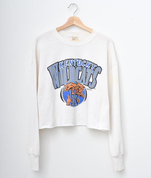 Kentucky Wildcats Cropped Sweatshirt - Milky White