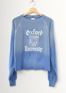 Oxford University Crop Sweatshirt