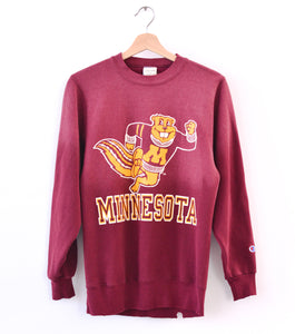 Minnesota Golden Gophers Vintage Champion Sweatshirt - Crushed Berry