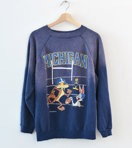 Looney Toones Michigan Sweatshirt - True Navy