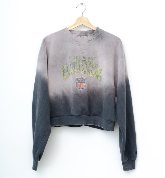Greenbay Packers Cropped Sweatshirt - Quicksilver