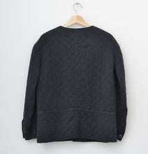 VINTAGE QUILTED LINER JACKET -  BLACK