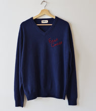 East Coast Cashmere V Neck - Navy