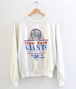 New York Giants Cropped Sweatshirt - Melange Light Grey