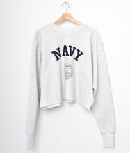 Original Shotgun Distress Navy Cropped Vintage Sweatshirt