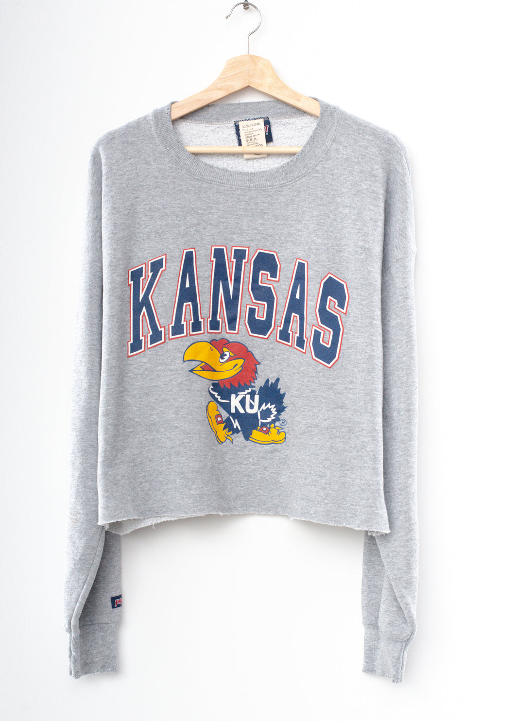 Kansas Jayhawks Crop Sweatshirt