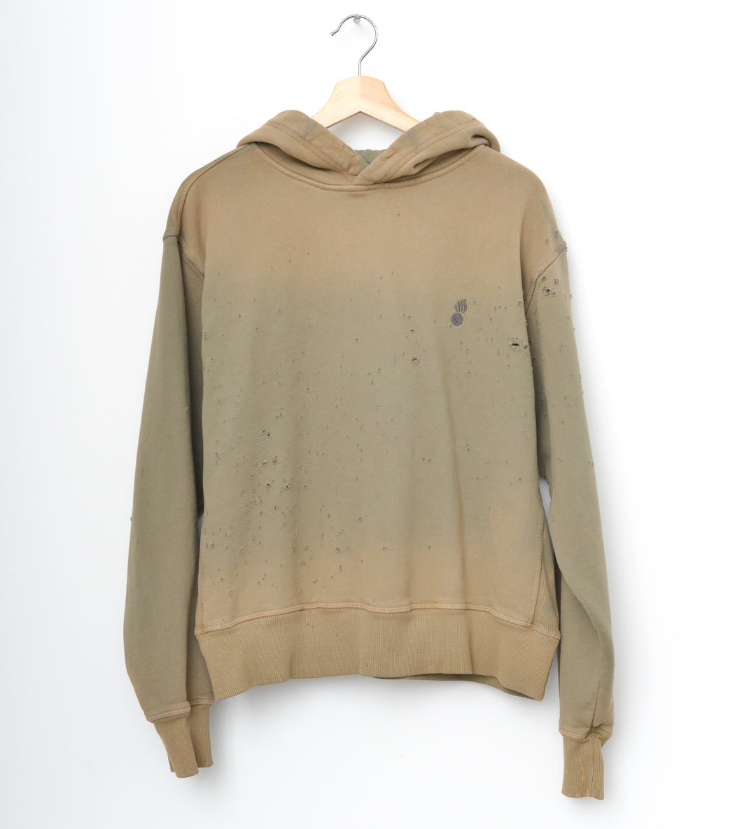JAMYLA SPECIAL SHOTGUN DISTRESS HOODIE IN SAGE GREEN