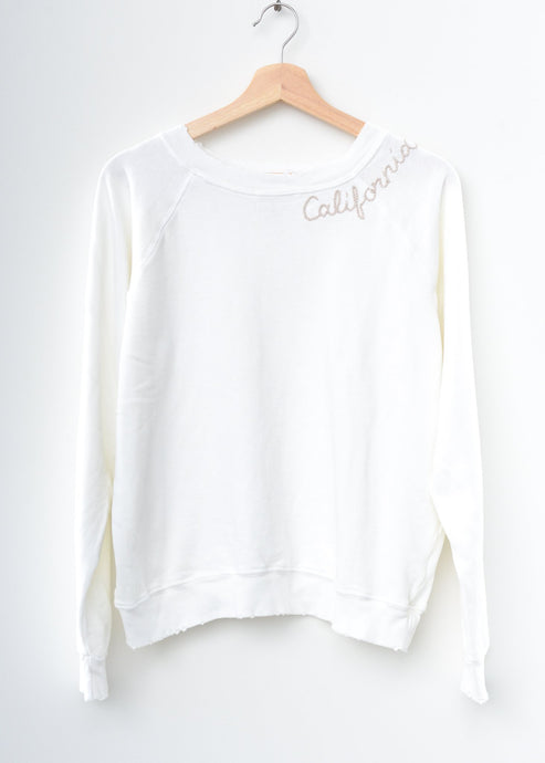 Essential California Sweatshirt- White