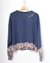 California Cropped Sweatshirt- Grey Blue
