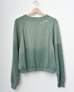 California Cropped Sweatshirt- Basil