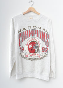 Alabama Crimson Tide National Champions '92 Sweatshirt