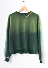 Ombre Stitched Sweatshirt-Green