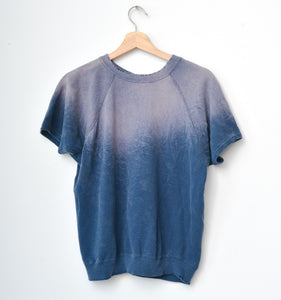 Navy Shorty Sweatshirt- Blue Opal