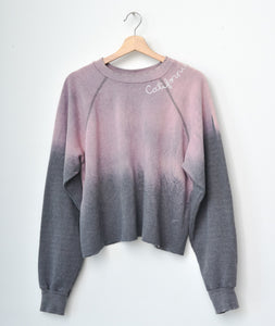 California Cropped Sweatshirt- Rose Petal