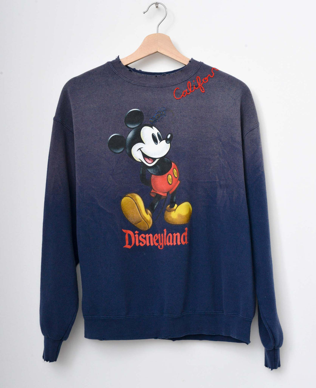 Vintage Mickey & California Embroidery Sweatshirt - Navy