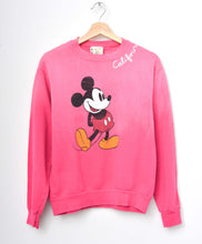 Vintage Mickey & California Embroidery Sweatshirt-Hot Pink