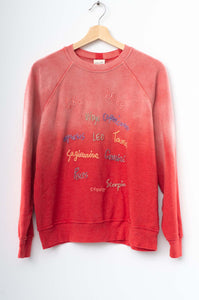 Zodiac Sweatshirt- Frost Red