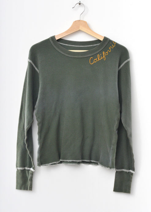 California Thermal Tee L/S-Washed Olive