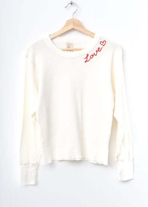 Love Thermal Tee L/S-Off White