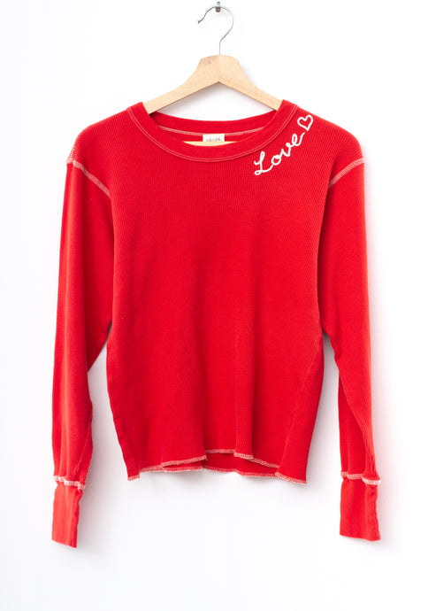 Love Thermal Tee L/S-Red