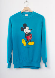 Vintage Mickey Sweatshirt -Blue- Customize Your Embroidery Wording