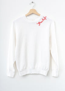 Vintage Grateful Sweatshirt - White