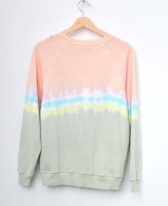 Peace Tie Dyed Sweatshirt- Sunrise
