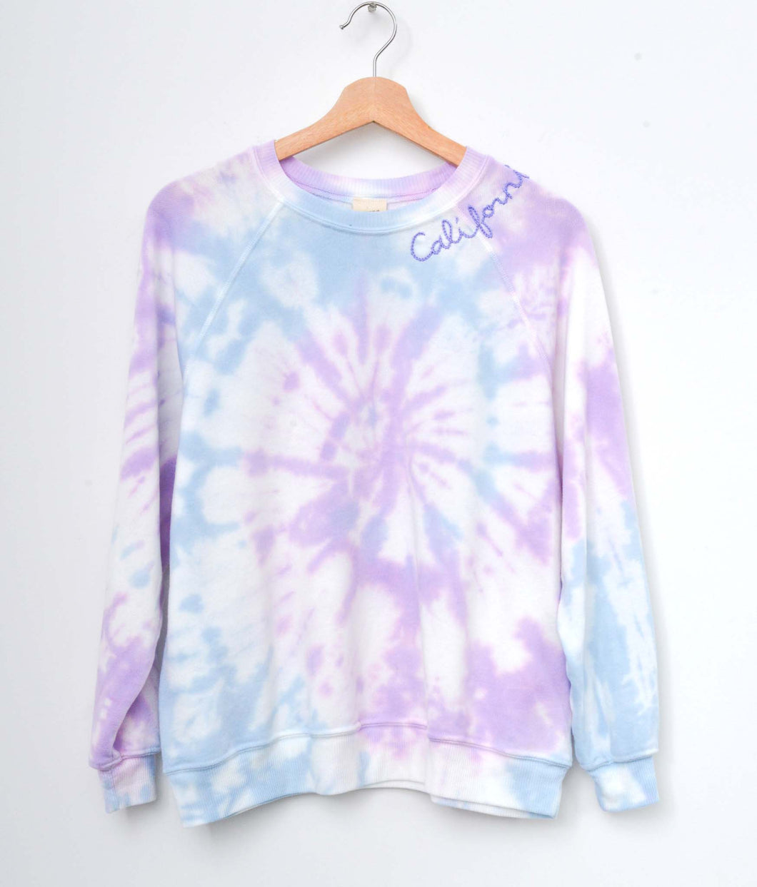 Coachella Swirl Tie Dyed Sweatshirt- Lilac Breeze