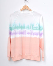 PEACH PEARL TIE DYE  L/S SWEATS WITH CUSTOM HAND EMBROIDERY