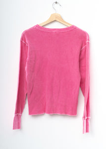 Love Thermal Tee L/S-Pink