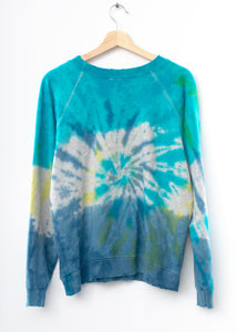 Prismatic Smiley Face Sweatshirt - Blue