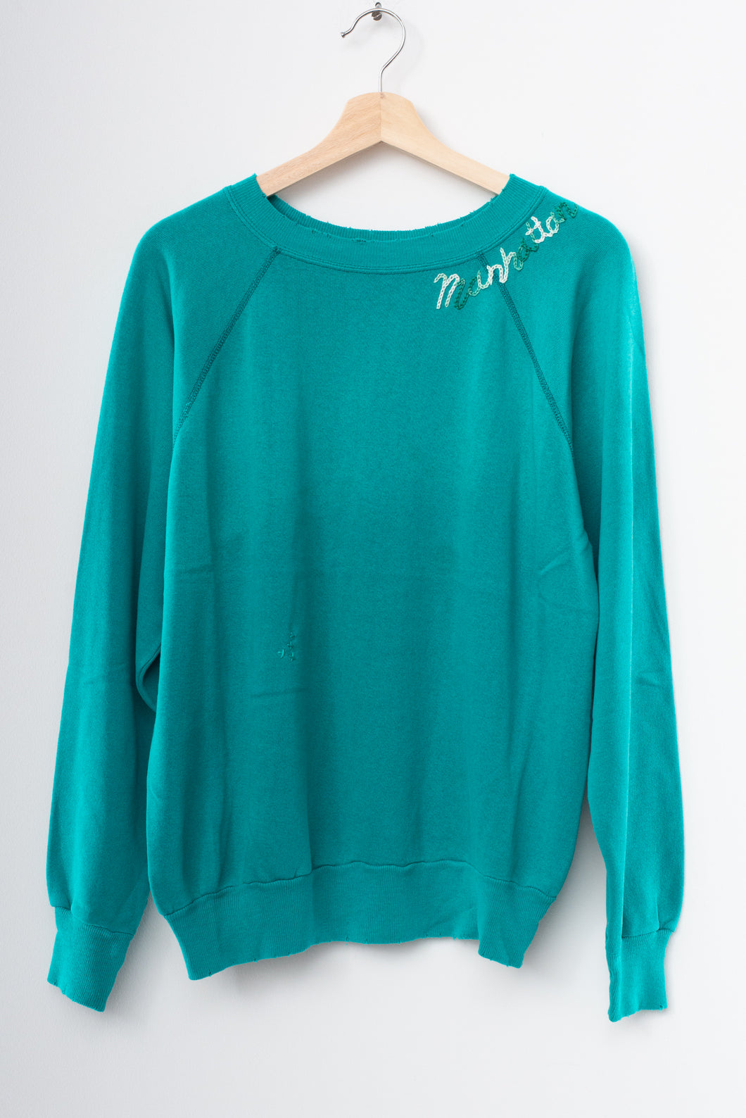 Manhattan Beach Sweatshirt-Teal-M/L