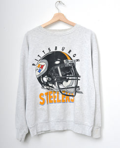 Pittsburgh Steelers Sweatshirt -H.Grey